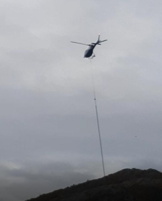 Med helikopter som arbeidshest